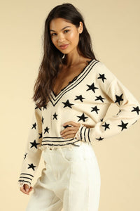 Star detail sweater
