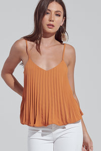 Strappy Pleated Top