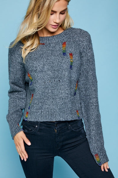 Rainbow Beads Sweater