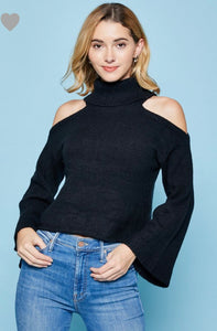 Turtleneck Cut out shoulders Sweater