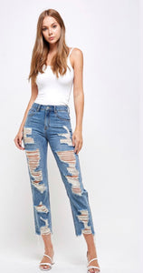 Distressed Straight jeans