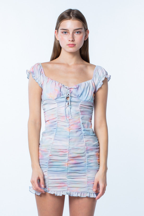 Cotton Candy Ruched Dress