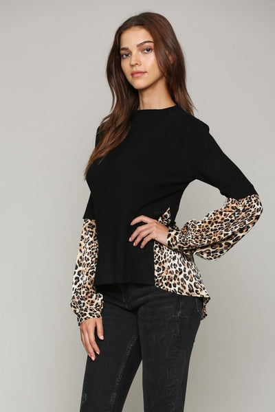 Animal Trim Sweater