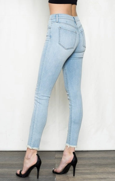 Ankle Length Mid Rise Jeans