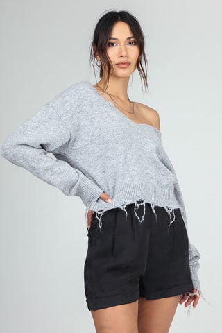 Ripped Bottom Sweater