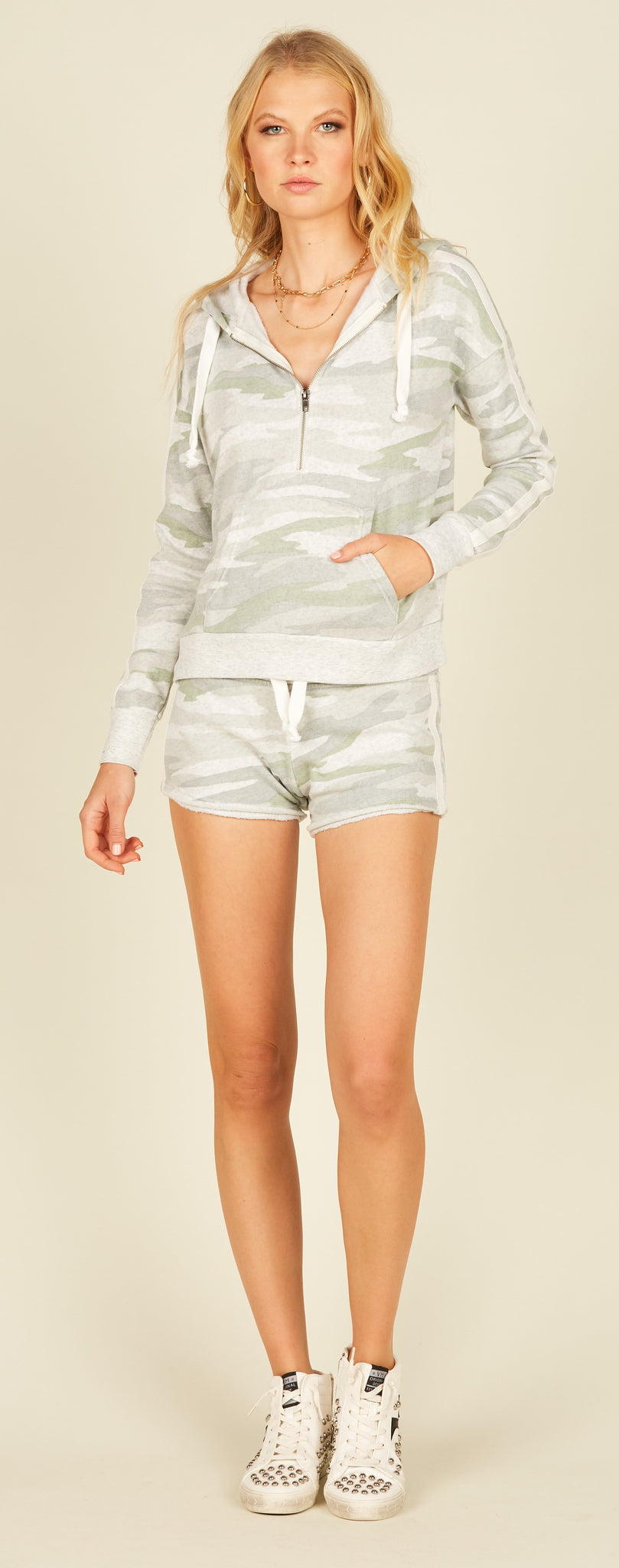 Fleece Burnout Shorts