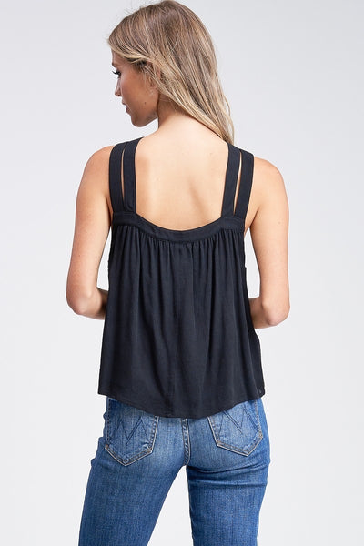 Annabelle cut out top