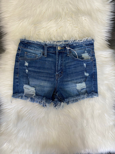 "Frayed Waist ""sweetener"" shorts"