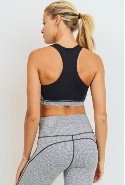 Static pattern print sports bra