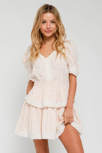 Ruffle Floral Baby Doll Dress