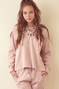 Dusty pink star sweatshirt