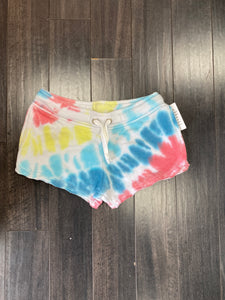 Aloha Tie Dye Burnout Shorts