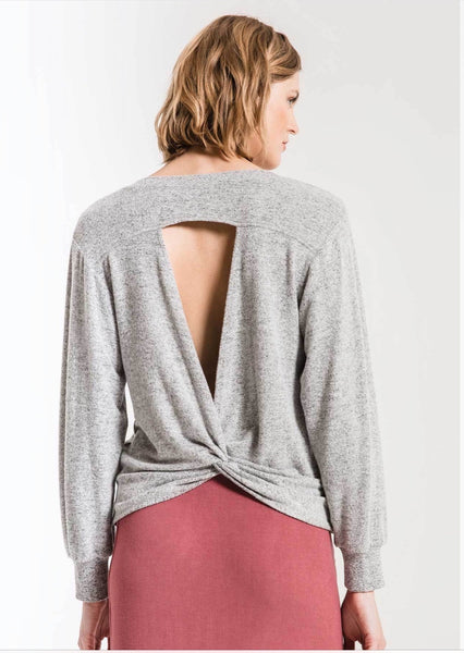 The Marled Twist Back Top