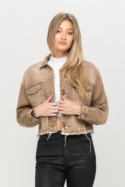 Over Sized Crop Jacket