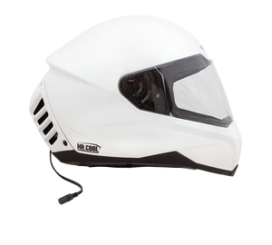 Air Conditioned Helmet in Pearl White