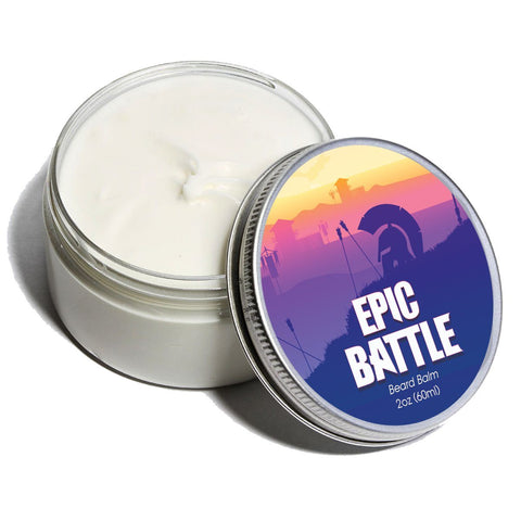 Beard Balm & Mustache Balm - ⚔️🛡️Epic Battle - Cologne Growth Balm