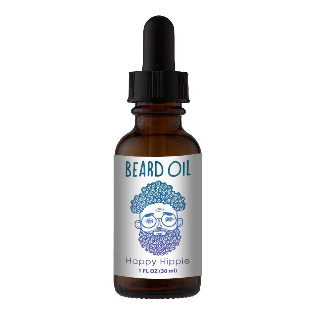Beard Oil & Mustache Oil - ☮️🕊️Happy Hippie - Cologne Growth Oil Beard Oil Bearded AF 1oz Beard Oil Bottle