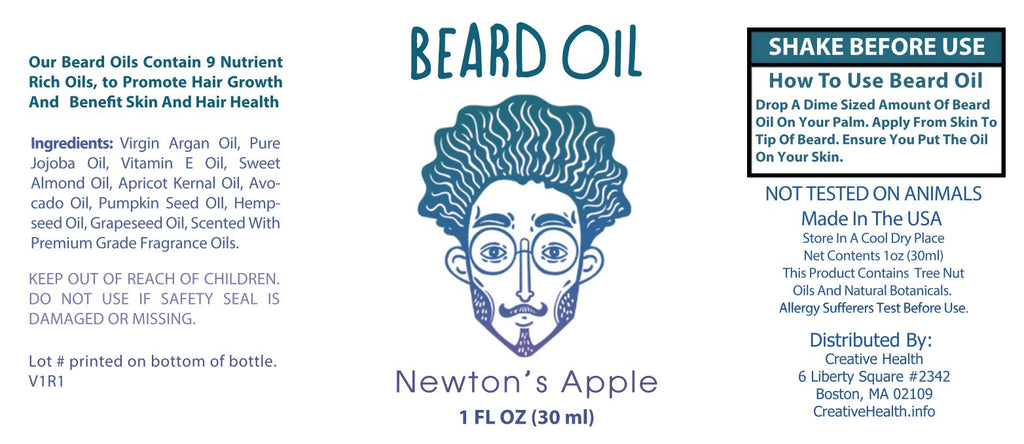 Beard Oil & Mustache Oil - 🍎Newton's Apple - Cologne Growth Oil Beard Oil Bearded AF