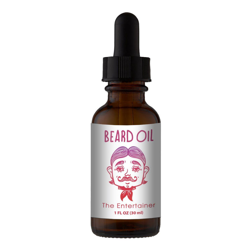 Beard Oil & Mustache Oil - 🎭The Entertainer - Cologne Growth Oil Beard Oil Bearded AF 1oz Beard Oil Bottle