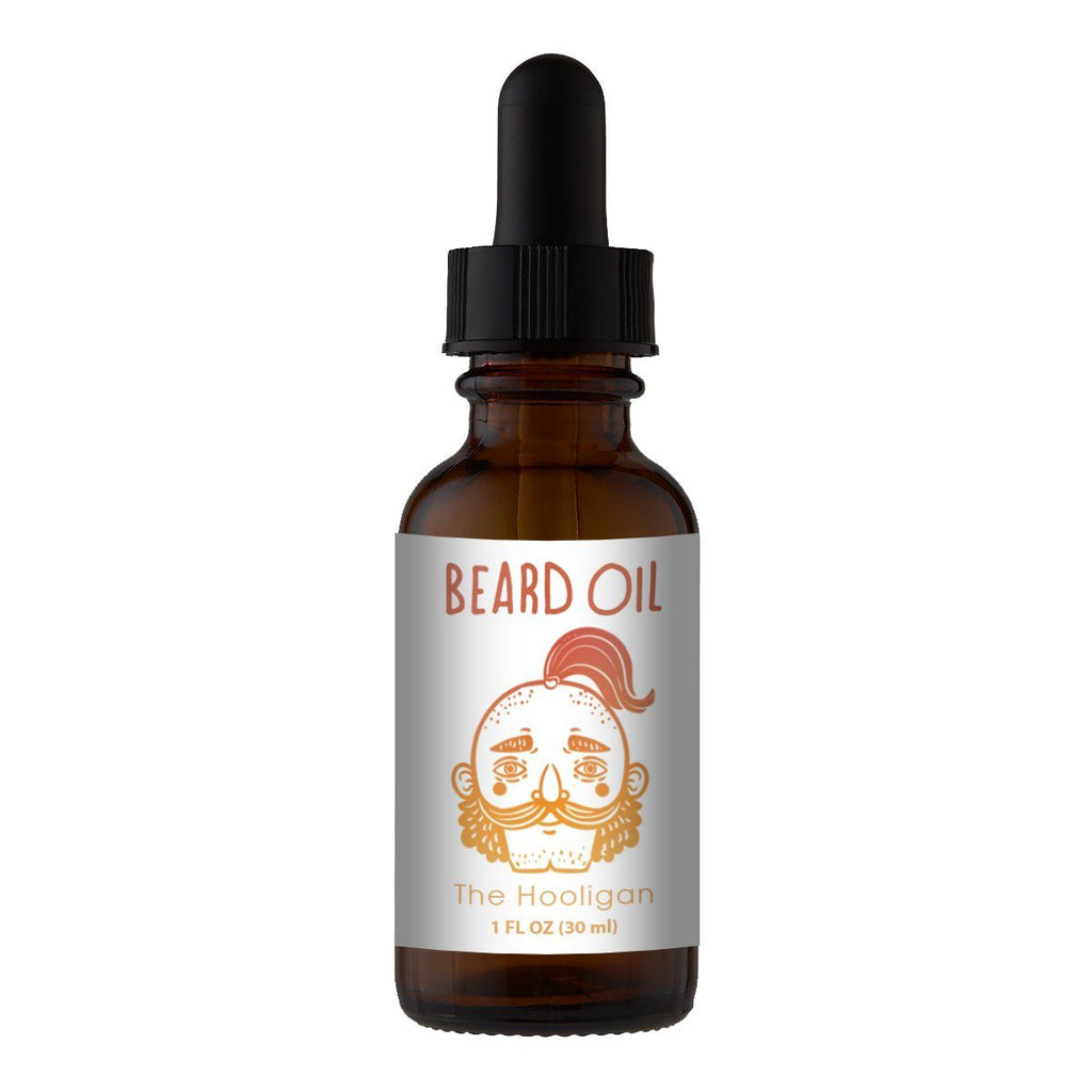 Beard Oil & Mustache Oil - 😜The Hooligan - Cologne Growth Oil Beard Oil Bearded AF 1oz Beard Oil Bottle