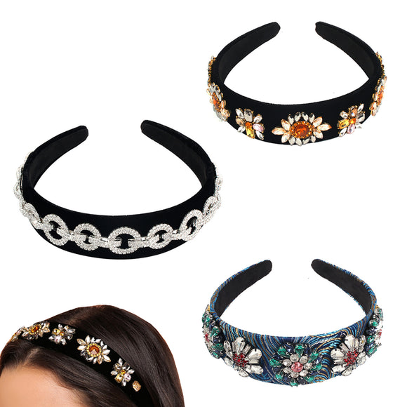 Crystal Headband, Headbands for Women Jeweled