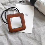 Wood Ponytail Holder, Hair Cuff Wrap, Tie Rope
