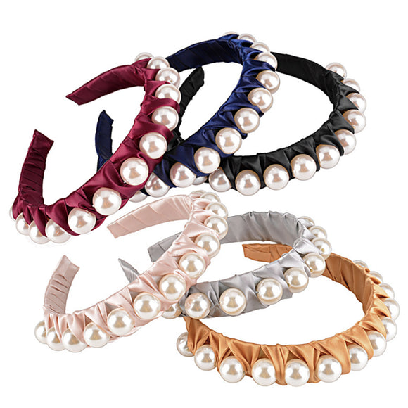 Wide Pearl Knotted Headbands