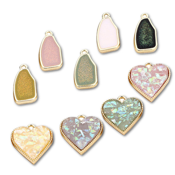 Pendant heart, diy earrings making blanks accessories