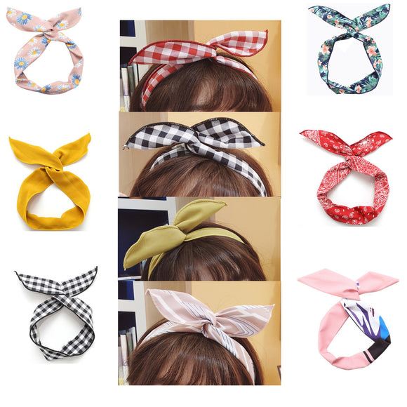 Women's Handband, Girl's Hairband, Retro Head Wrap Women