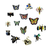 Butterfly Patch Sequin Applique Beaded Rhinestone Fabric, Bee Patch