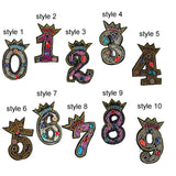 Number Patches, Number Patches Sew on, Applique for Clothes