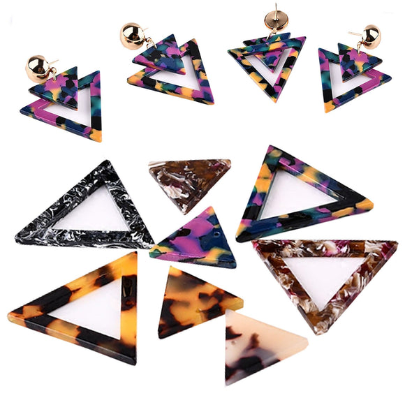 Acrylic Earring Blanks, Pendant, Geometric Pattern, DYI Earring Making