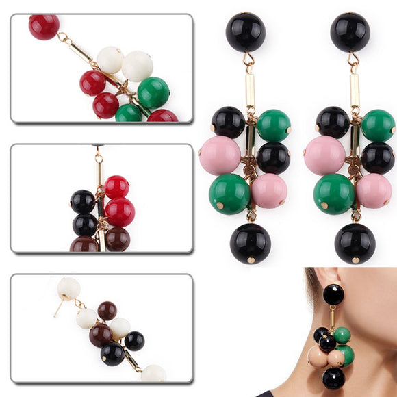New Boho Style Imitation Agate Earrings Dangle Stud Agate Earrings
