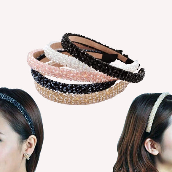 Four-row Crystal Handmade Hard Headband