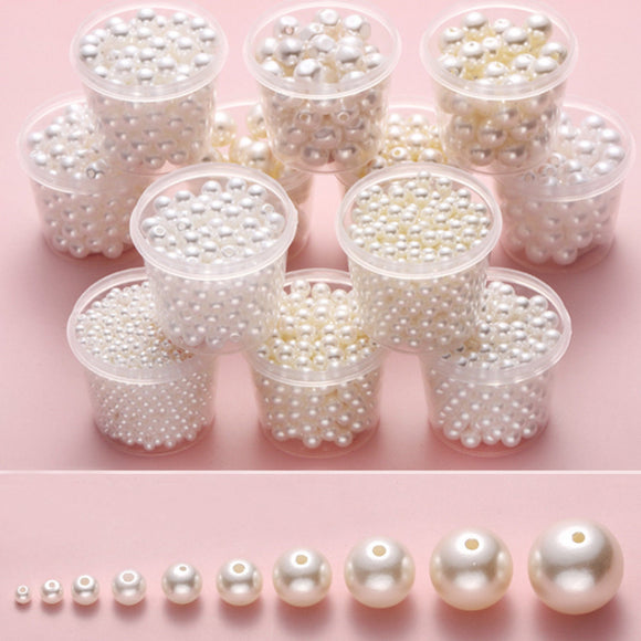 White Shell Pearls, White round pearls, Shell pearl beads