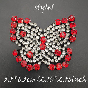 Butterfly Patch, Sequin Appliqueб Beaded Rhinestone Patch