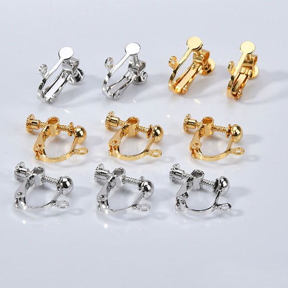 Earring Clip On, 18K Gold, Silver Converter, Clip on findings