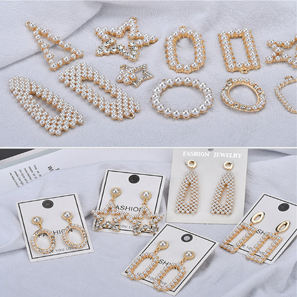 Pearl DIY Pendant, Rhinestone DIY Pendant, diy Earrings