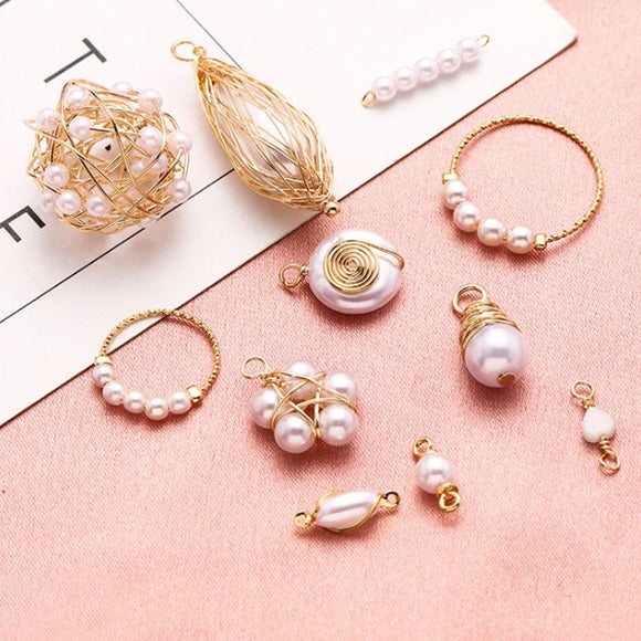 Pearl DIY Pendant, Earrings 18K, DIY Pendant, Stud Earring