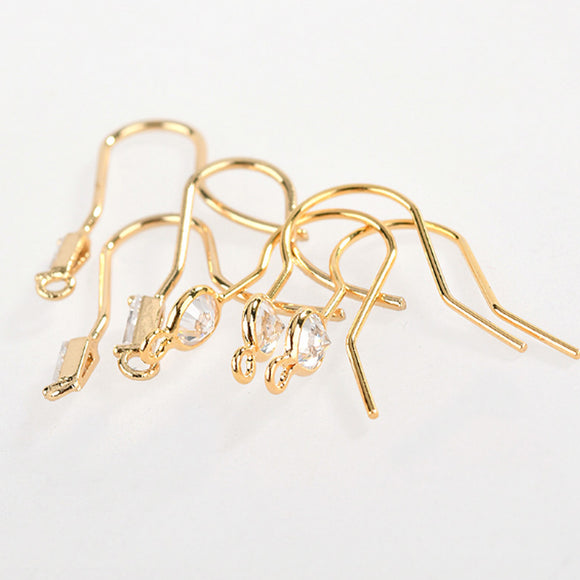 18K Earring Hooks, Ear Hook, French Hooks, Small Earring Hook