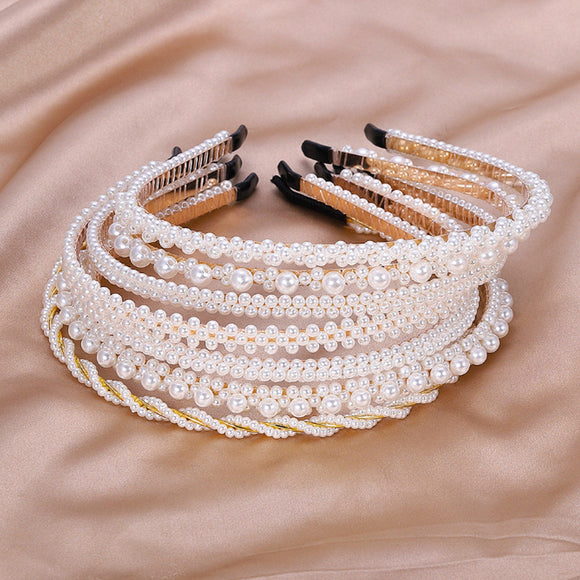 Pearl Headband, Pearl Bridal Headband, Alice Band