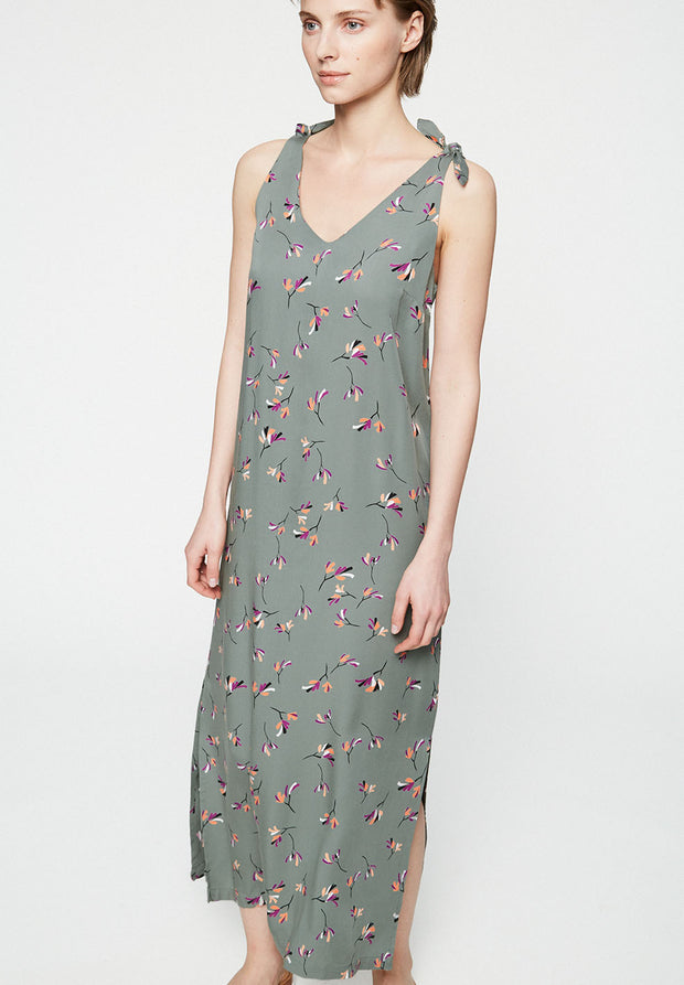 Diaana Little Branches Bow Strap Dress