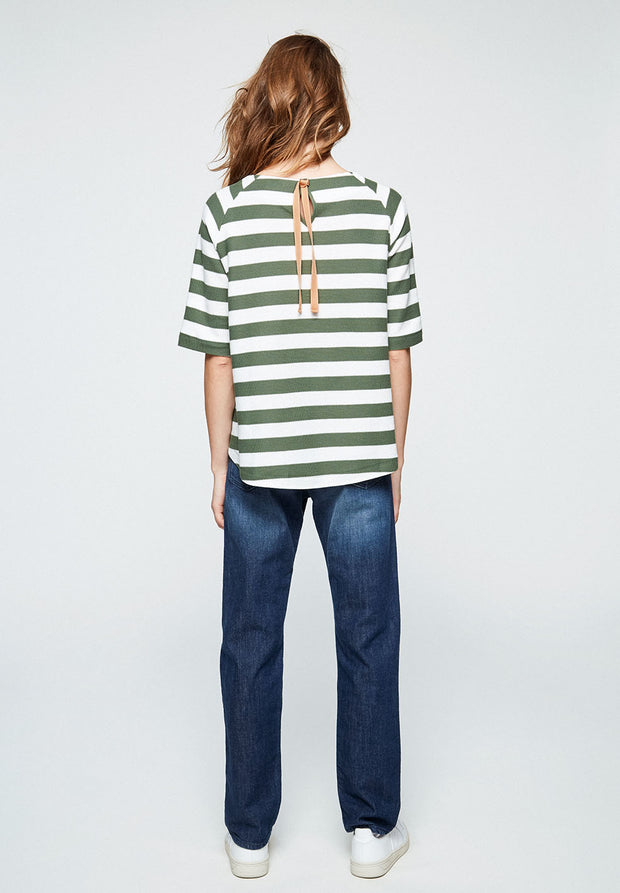 Laaine Striped Sweat Top with Bow