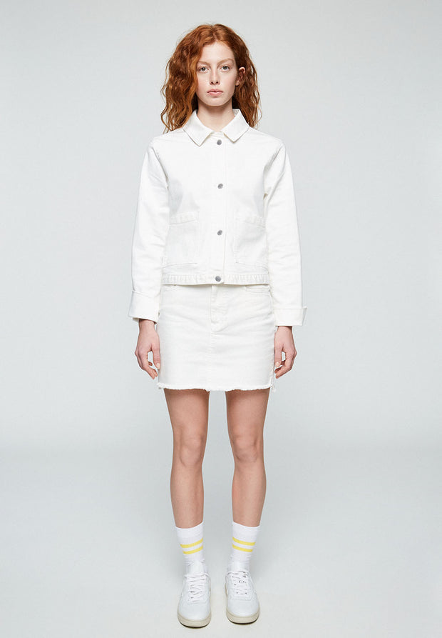 Maalia White Denim Jacket