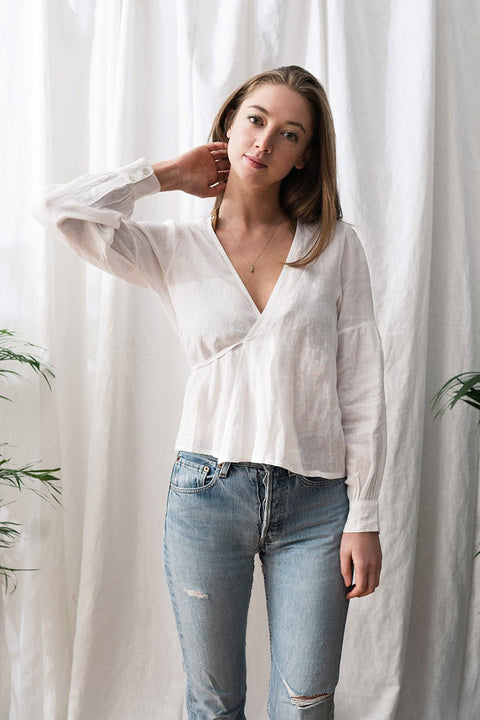 Anna Blouse in White