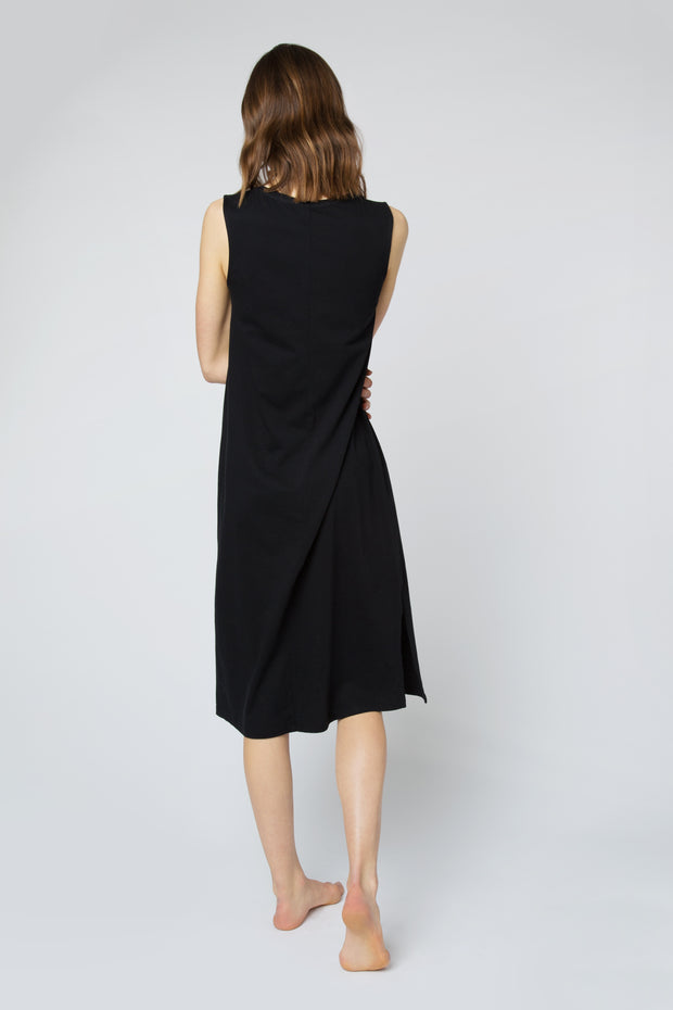 Relaxed Tank Dress in Black