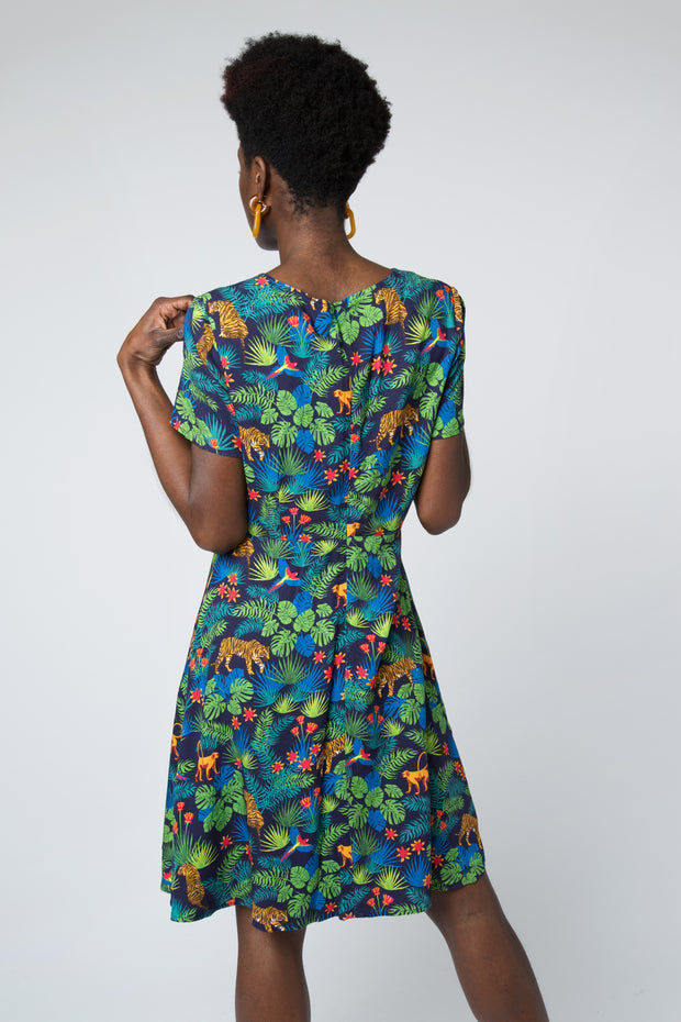 O'Hara Jungle Fit and Flare Dress