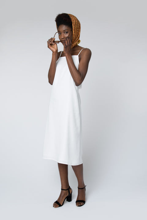 Duval Tie-Back Midi Dress