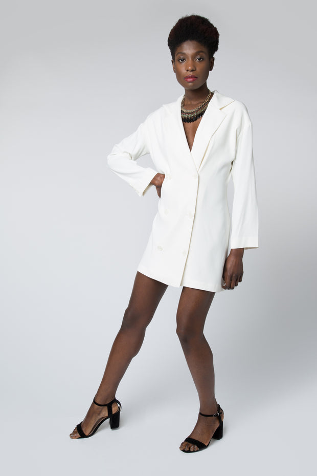 Maika Jacket Dress in White
