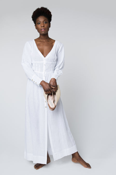 Gertrude Dress in White